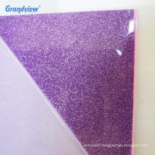 Custom size wall decoration plastic glitter acrylic sheet