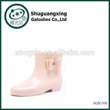 Sex Ladies Cheap Garden Rubber Rain Boots Wholesale Trendy Women Rain Boots SGX-501