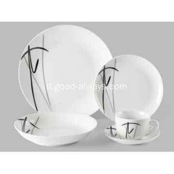 Set di 20 pezzi Decal Coupe Porcellana cena