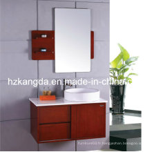 Cabinet de salle de bain en bois massif / vanité de salle de bain en bois massif (KD-430)