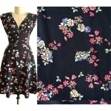 Fábrica chinesa de tecido Rayon Challis para roupas femininas