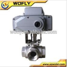 16bar 24vdc electric stainless steel 304 2-way control valve with actuator