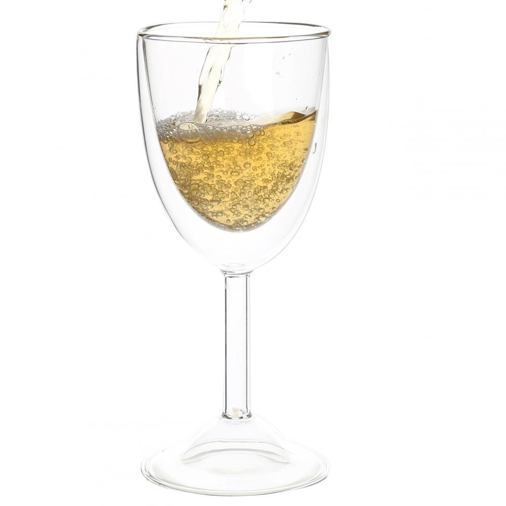 Double Layered Borosilicate Glasses For Champagne