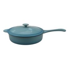 enamel cast iron milk pot with long handle