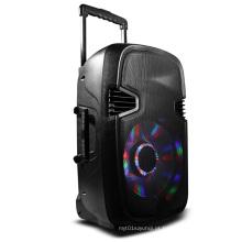Alto-falante portátil sem fio Bluetooth com luzes Revoving Chifre