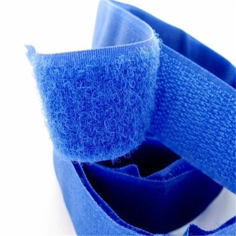 Blue Velcro hook and loop