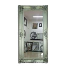 Resin Flower Large Wood Frame Wall Mirror