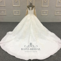 Ivory High Quality Appliqued Long Sleeves 2018 Wedding Dress Ball Bridal Gown