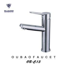 Alavanca Simples Moderna Pull Out Sink Vessel Faucet