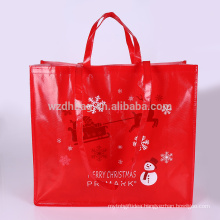 2018 reusable promotional laminated non woven bag shopping tote bag grocery for supermarket