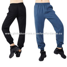 Long dance pants, made of cotton/spandex, OEM accepted