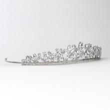 Accesorios para el cabello de la boda nupcial de la corona de cristal de la vendimia Tocado de cristal