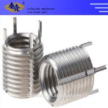 Thread insert keenserts and Key-locked screw thread coils