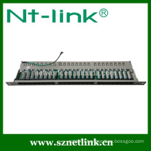 0.5u 19inch 24 port cat5e rj45 stp blank patch panel