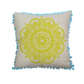 Hot Sale light yellow canvas cushion