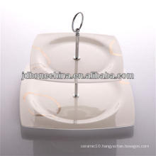 new square shape bone china ceramic porcelain pie dish