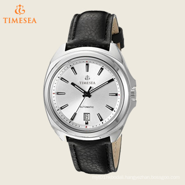 Swiss Men′s Mechanical Hand Wind Black Strap Watch 72541