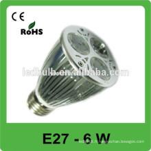 E27 lumières spot allumées 6w led spot lights
