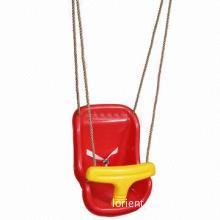 Plastic baby swing, seat with PE rope, EN71-1/2/3/8 certified