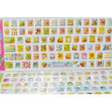 Cute Cartoon eva puffy sticker keyboard/Mobile decor Decals Customized designs