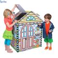Casa dobrável por atacado das crianças do cartão ondulado