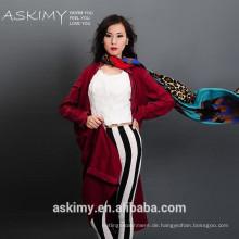Schöne Frauen neue Artart und weise preiswerter gesponnener Schal