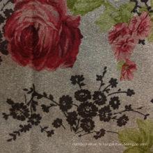 Imprimer les tissus tissés en daim composés avec un soutien en tissu tricoté