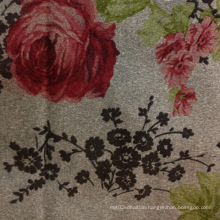 Print Suede Woven Fabrics Composited with Knitted Fabric Backing