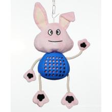 Плюшевая игрушка-кролик для собак