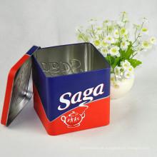 Kundenspezifisches gedrucktes Logo Chinesisches Tee-Zinn-Kasten