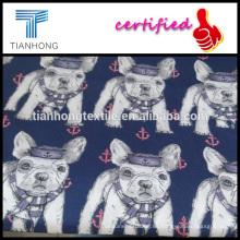 años 60 satén tejido luz peso del algodón 98gsm tela animal de la impresión para sleepdress