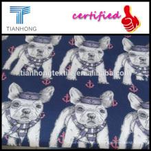 anos 60 cetim tecelagem luz peso 98gsm algodão em tecido animal de impressão para sleepdress