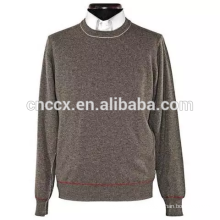 15JW0324 light weight crewneck men plain color pullover sweaters