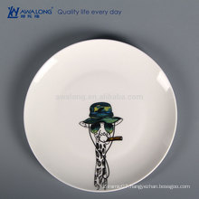 Animal Design Hand Painting Custom Made Dinner Plates, Bone China Hotel Tableware