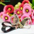 Porte-clés en cuir cool avec le logo du client