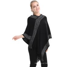 Novo estilo 2017 estocados inverno senhoras outono moda mexicano mulheres chuva poncho
