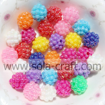 10MM Wholesale Mix Color Solid Acrylic Berry Beads With A Hole