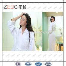 100% Cotton Cut Velvet Style White Super Soft Wholesale 5 Star Hotel Bathrobe