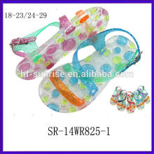 SR-14WR825-1 glitter kids jelly sandals fashion plastic sandals wholesale children jelly sandals