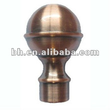 Alumínio bola de metal One-wire Bullet Finial