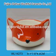 2016 tasses à oeufs en céramique de style le plus populaire en forme de renard orange