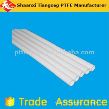 white ptfe tubing used as insulating cover