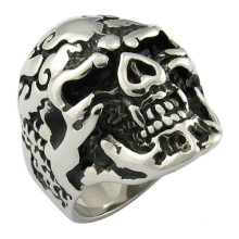 Schädel Ring Casting Jwelry Mop Schwarz Ring
