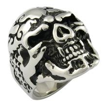 Anillo de cráneo anillo de joyería joyería negro