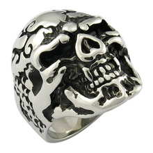 Skull Ring Casting Jwelry Mop Black Ring