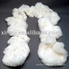 Écharpe de fourrure de lapin