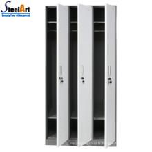 Vente chaude de bonne qualité école utilisé trois portes en acier couleurs almirah