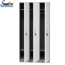 Горячей продажи хорошее качество школе используются три двери стальная железном шкафу цвета