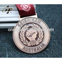 personalizado artesanato esmalte ouro metal esportes taekwondo medalha fita cabide