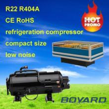 refrigerador piezas r404a 1.5hp compresor de refrigerador doméstico del congelador de refrigerador para exhibición de alimentos congelados del supermercado